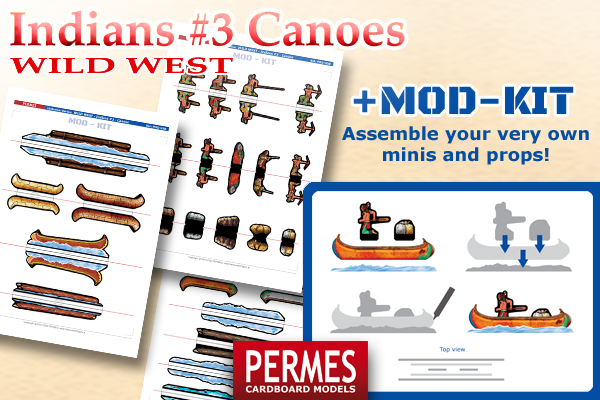 Indians #3 Canoes - Wild West Series by PERMES - MOD-KIT - preview 5