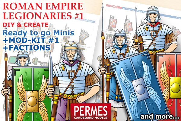 Roman Imperial Legionaries #1 - PERMES DIY &CREATE Series paper minis - preview 1