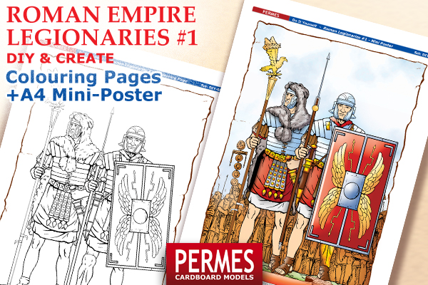 Roman Imperial Legionaries #1 - PERMES DIY &CREATE Series paper minis - preview 4