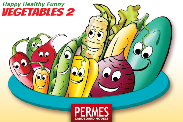 Happy Healthy Funny VEGETABLES #2 by PERMES - preview 1