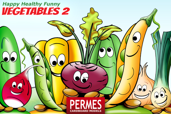 Happy Healthy Funny VEGETABLES #2 by PERMES - preview 2