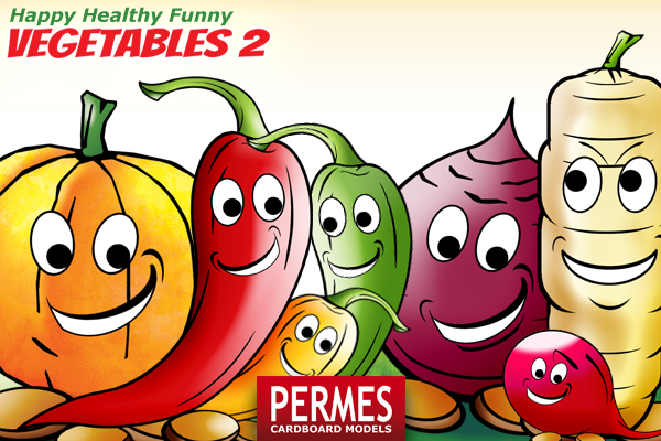 Happy Healthy Funny VEGETABLES #2 by PERMES - preview 3