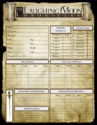 Adventures Under the Laughing Moon BLANK Character Sheet - Bundalin