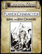 Adventures Under the Laughing Moon Pre-rolled Character Sheet - Holy Knight