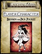 Adventures Under the Laughing Moon Pre-Rolled Character Sheet-Female Gypsy Pick Pocket