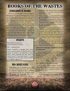 Books of the Wastes (Mutant Future)