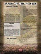 Books of the Wastes (Mutant Future)
