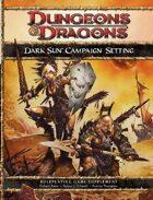 Dark Sun Campaign Setting (4e)