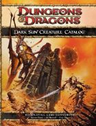 Dark Sun Creature Catalog (4e)
