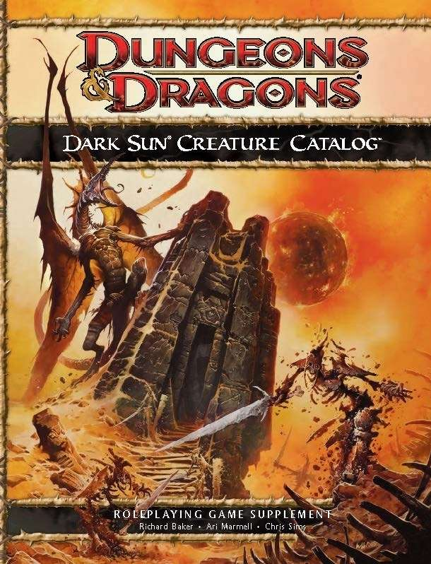 Dark Sun Creature Catalog 4e Wizards Of The Coast Dungeons