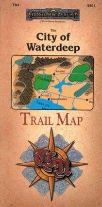 TM4: The City of Waterdeep Trail Map (2e) - Wizards of the