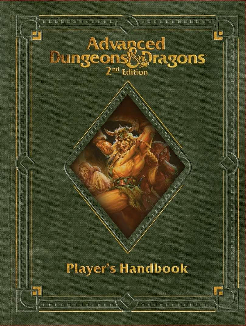 Player's Handbook, Revised (2e) - Wizards of the Coast | AD&D 2nd Ed. |  Rules | AD&D 2nd Ed. | DriveThruRPG.com