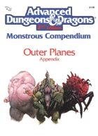 MC8 Monstrous Compendium Outer Planes Appendix (2e)