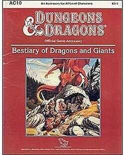 Cover of AC10 Bestiary of Dragons and Giants