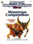 MC2 Monstrous Compendium Volume Two (2e)