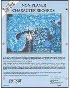 AD&D Non-Player Character Records