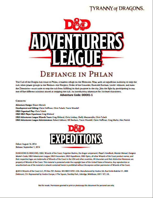 Cover of DDEX01-01 Defiance in Phlan