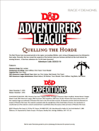 DDEX3-10 Quelling the Horde (5e)