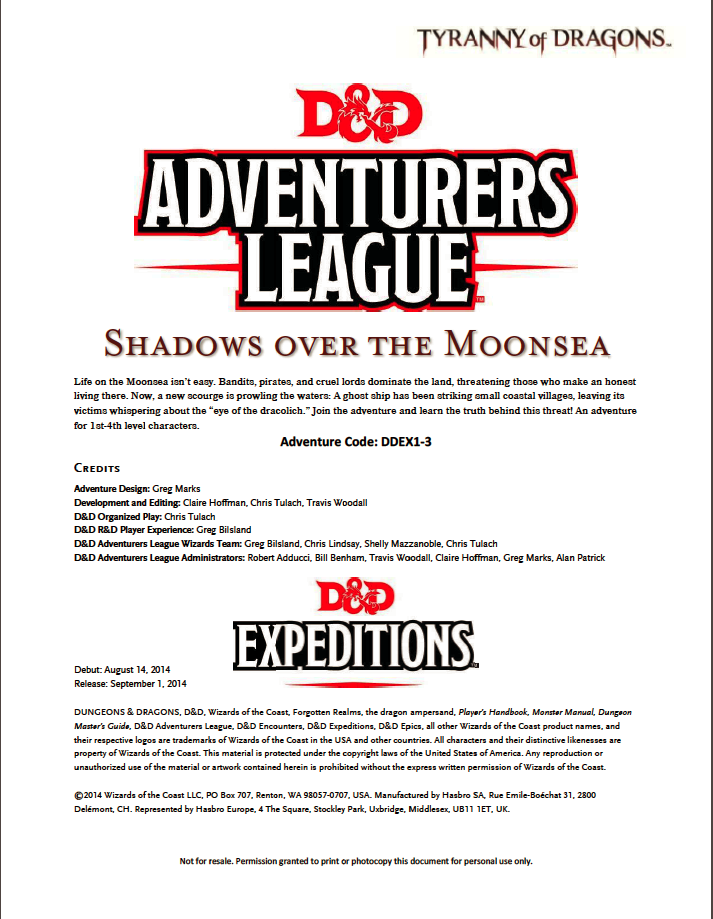 DDEX1-03 Shadows of the Moonsea (5e)