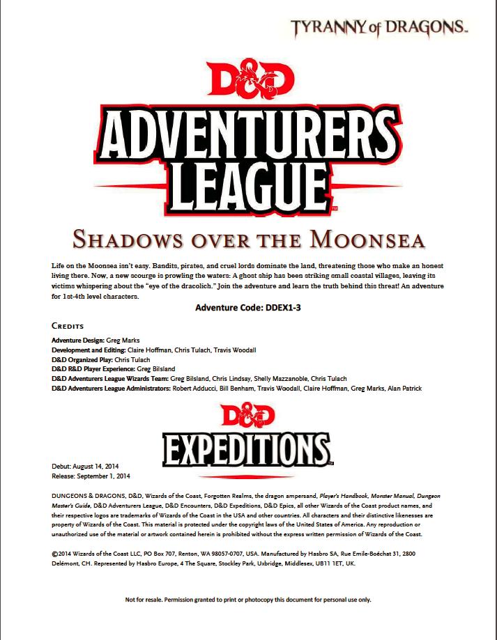 DDEX1-03 Shadows of the Moonsea (5e)