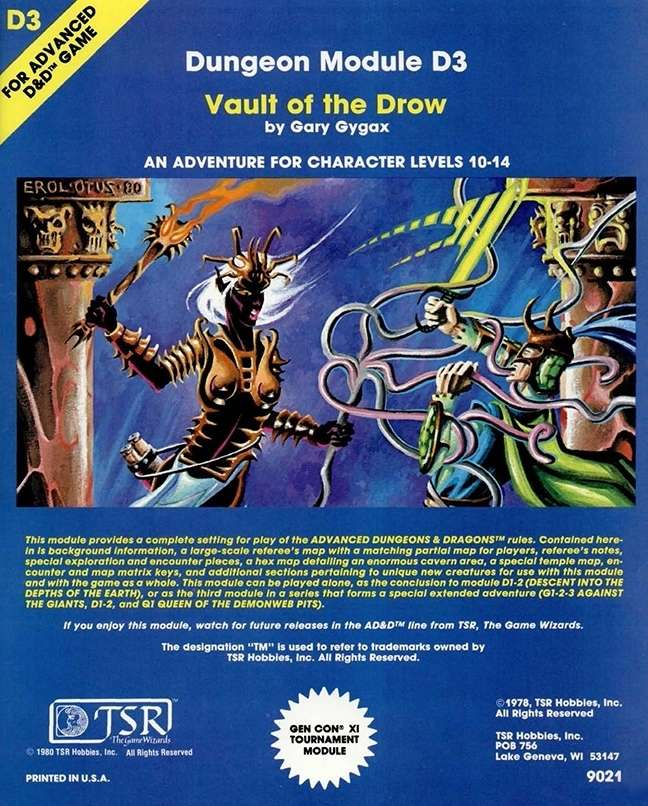 D3 Vault of the Drow (1e) - Wizards of the Coast   AD&D 1st Ed.    Adventures   AD&D 1st Ed.   Dungeon Masters Guild
