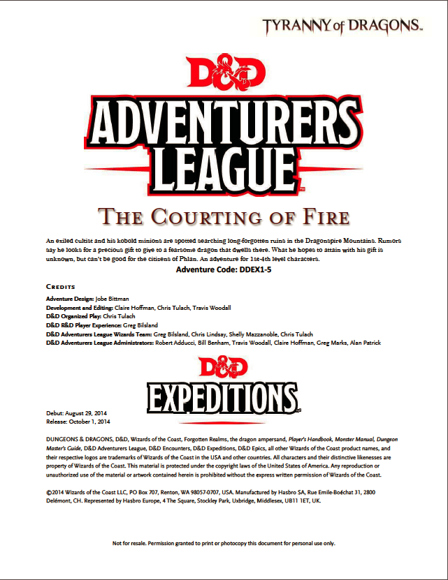 Cover of DDEX01-05 The Courting of Fire