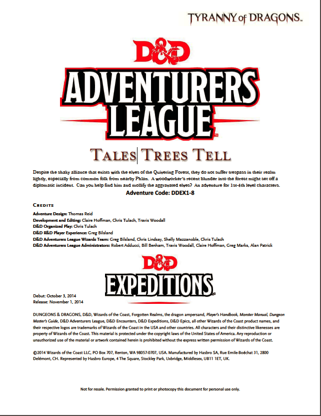 Cover of DDEX01-08 Tales Trees Tell