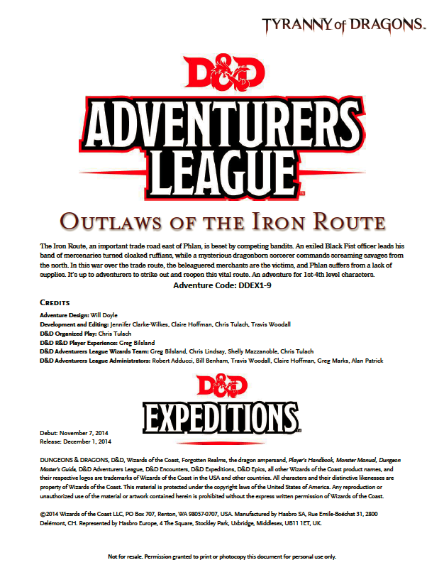 Cover of DDEX01-09 Outlaws of the Iron Route
