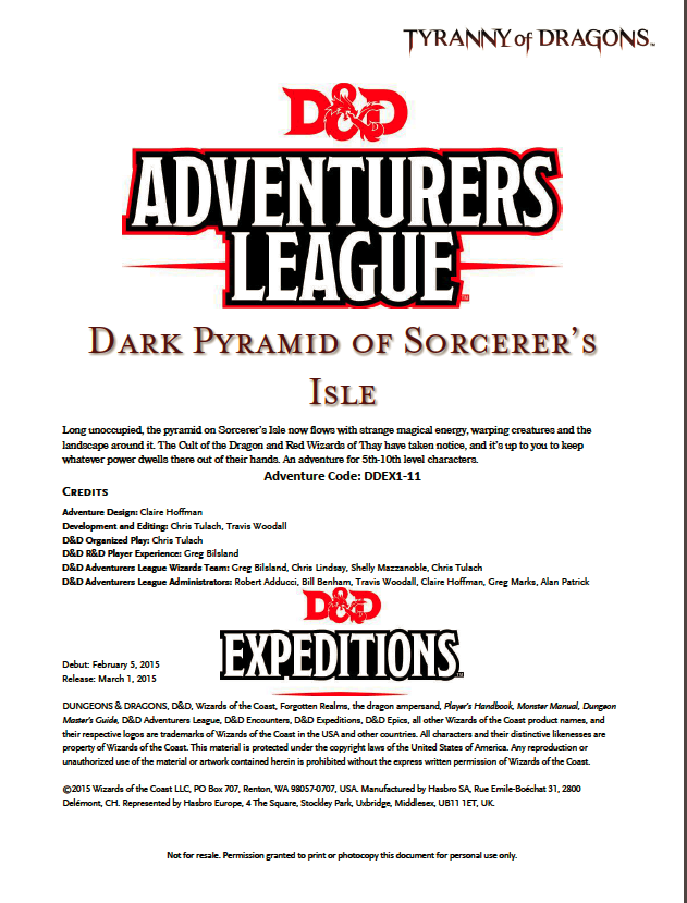 DDEX1-11 Dark Pyramid of Sorcerer's Isle (5e)