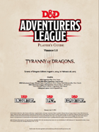 DDEX1  Tyranny of Dragons Player's Pack (5e)