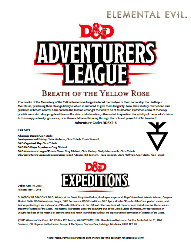Cover of DDEX02-06 Breath of the Yellow Rose