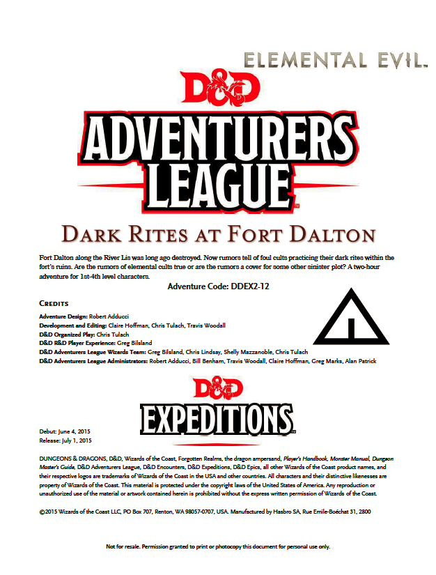 DDEX2-12 Dark Rites at Fort Dalton (5e)