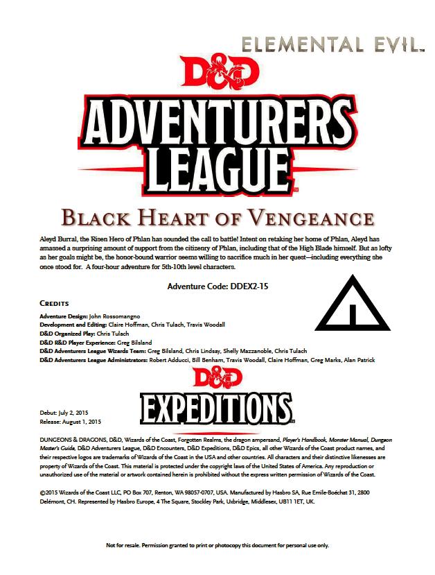 Cover of DDEX02-15 Black Heart of Vengeance