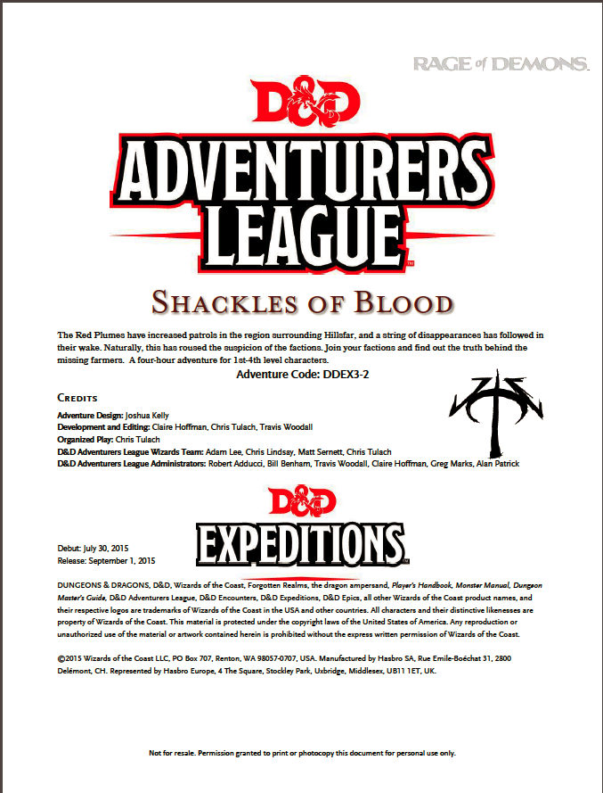 Cover of DDEX03-02 Shackles of Blood