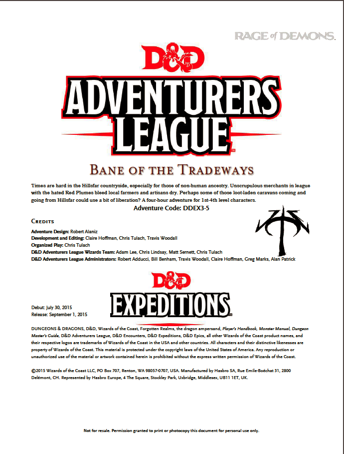 Cover of DDEX03-05 Bane of the Tradeways
