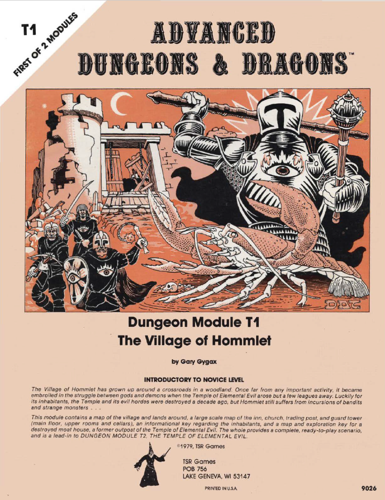Cover of T1 Village of Hommlet
