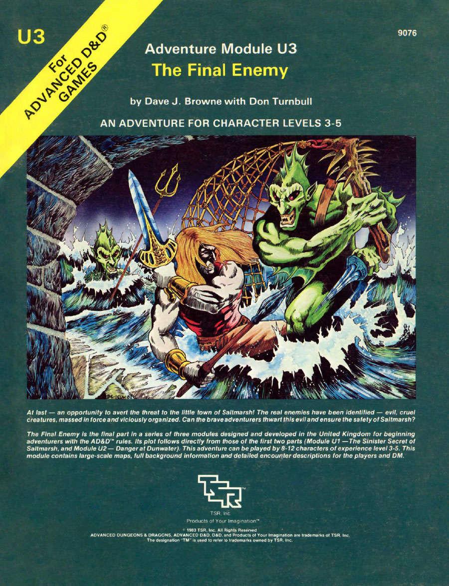 U1-U3 Underwater Series (1e) [BUNDLE] - Wizards of the Coast   AD&D