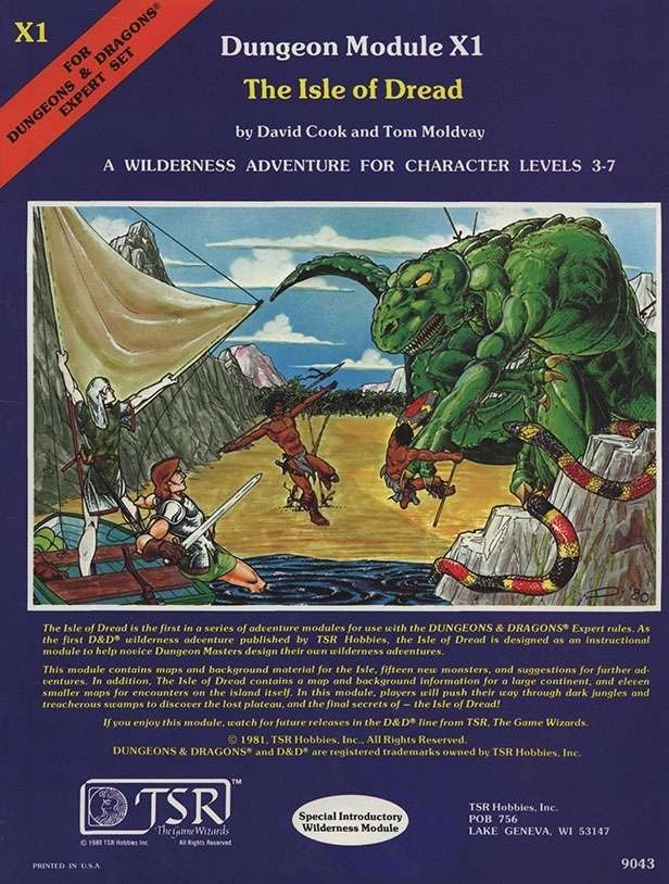 Cover of X1 The Isle of Dread