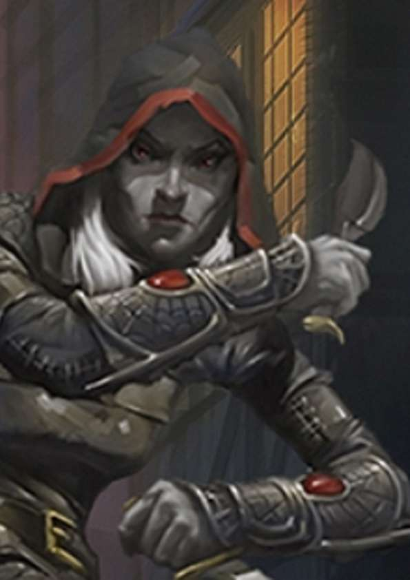 Pregen Characters: Drow Rogue (5e) - Wizards of the Coast