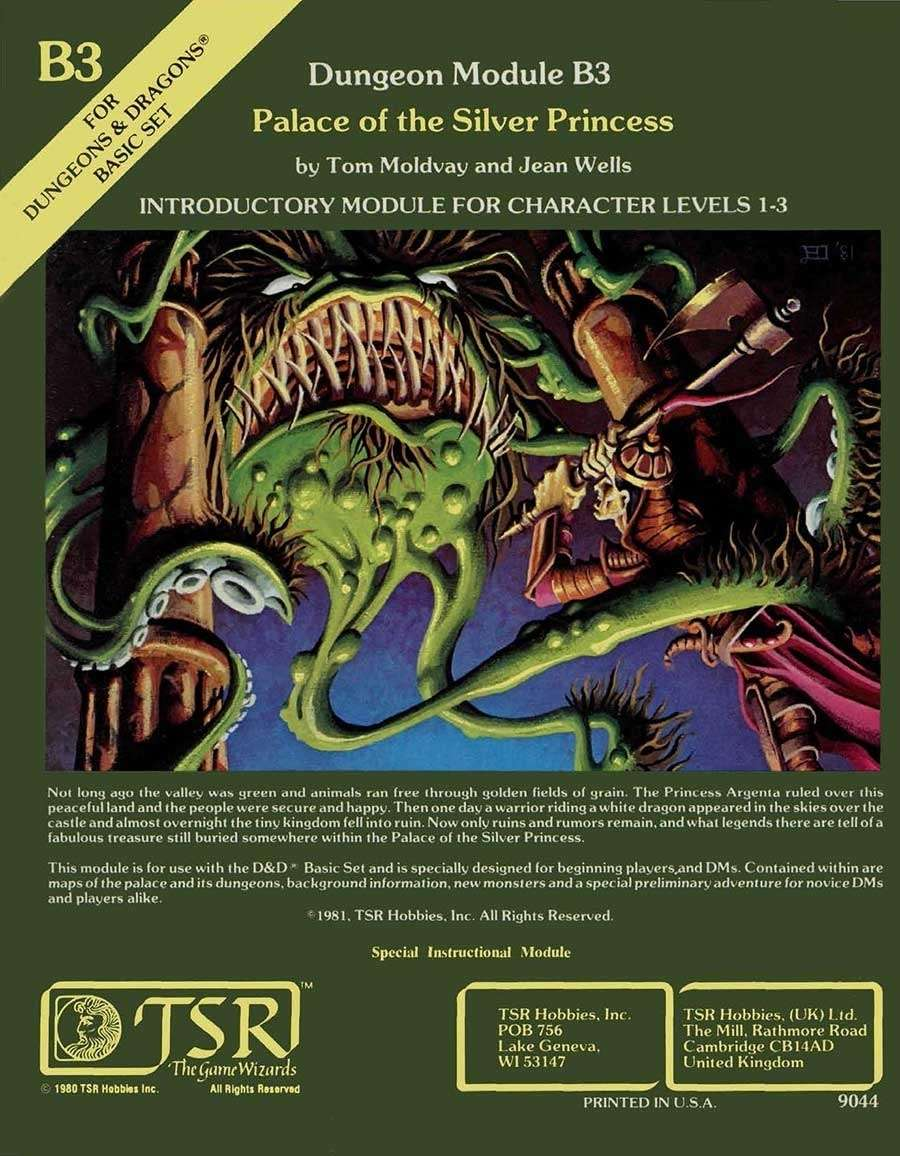 B3 Palace Of The Silver Princess Basic Wizards Of The Coast D D Basic Adventure Modules D D Basic Dungeon Masters Guild