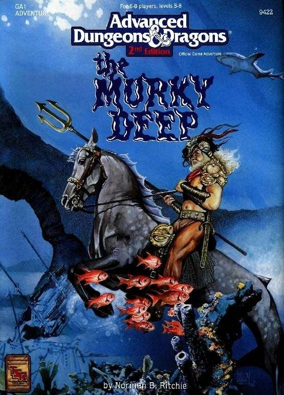 Ga1 The Murky Deep 2e Wizards Of The Coast Ad Amp D 2nd