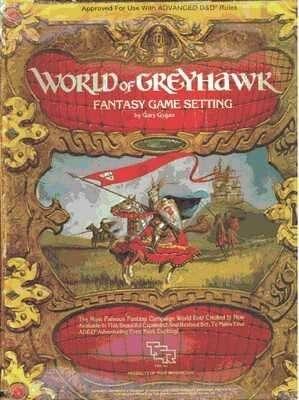 MAP OF WORLD GREYHAWK