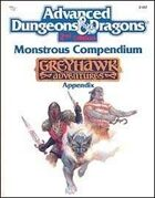MC5 Monstrous Compendium Greyhawk Adventures Appendix (2e)