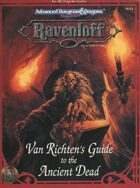 RR9 Van Richten's Guide to the Ancient Dead (2e)