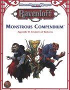 Monstrous Compendium - Ravenloft Appendix III (2e)