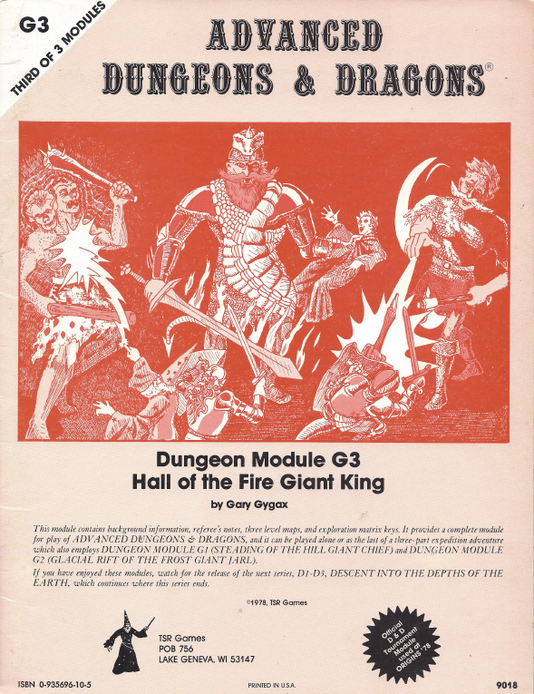 Cover of G3 Hall of the Fire Giant King