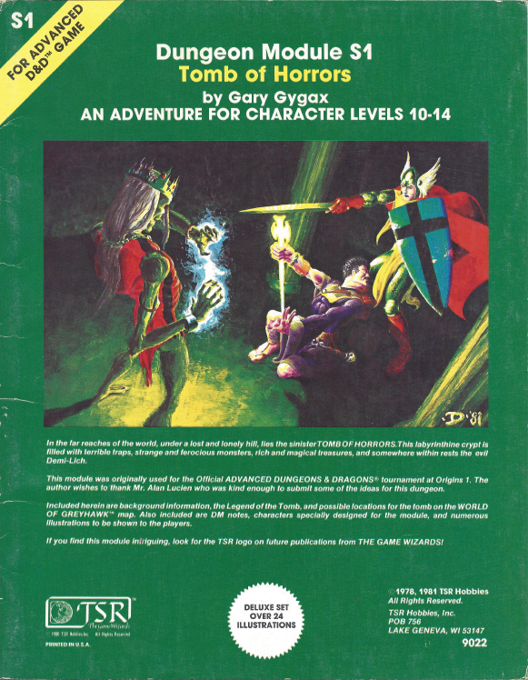 S1 Tomb of Horrors (1e) - Wizards of the Coast | AD&D 1st Ed