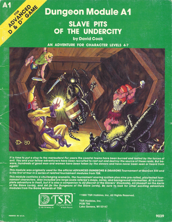 Cover of A1 Slave Pits of the Undercity
