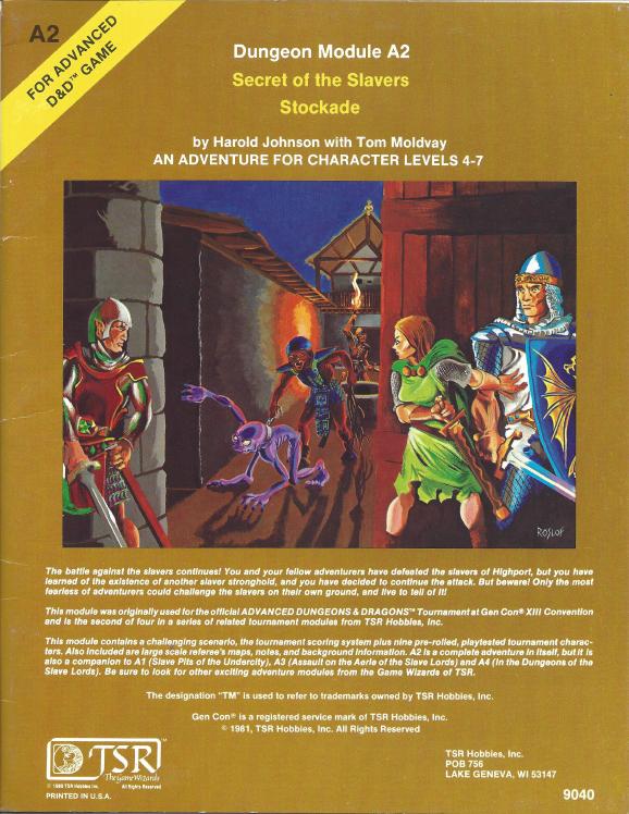 Cover of A2 Secret of the Slavers Stockade