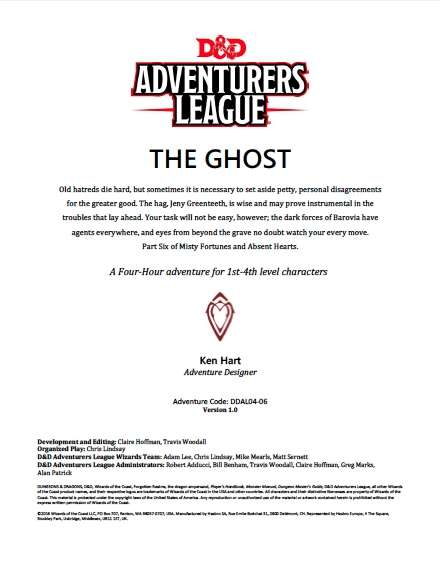 Cover of DDAL04-06 The Ghost